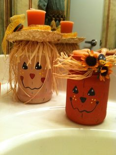 Scarecrow Candle Holders.