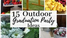 15 Outdoor Graduation Party Ideas Every Grad Needs To Know - Cassidy Lucille Vintage Graduation Party, Outdoor Graduation Parties, Graduation Party Games, Graduation Party Centerpieces, Graduation Party Foods, 8th Grade Graduation, Grad Parties, Graduation Ideas, College Graduation