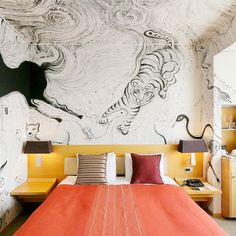 A travel editor reveals the top design destinations every décor lover should visit this fall. Bedroom Themes, Bedroom Decor, Wall Decor, Wall Art, Theme Hotel, Couple Bedroom, Commercial Interior Design, Hospitality Design, Cool House Designs