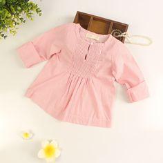 Encontre mais Blusas Informações sobre Bebés meninas Red   blusas listradas meninas primavera outono blusa…