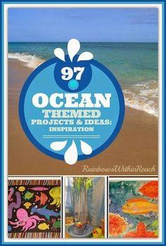 Ocean Creatures in Children's Art from RainbowsWithinReach