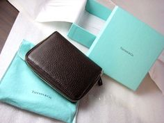 I think a girl's best friend is anything from Tiffany & Co!!!  This is a wonderful Tiffany & Co. Espresso Brown Leather Zip Around Wallet with Smart Phone Pocket NIB.  I use one of these for daily grab and go!  #TiffanyCo #MiniWallet