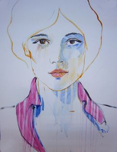 "Saatchi Online Artist richard kuhn; Painting, ""fashion model"" #art"