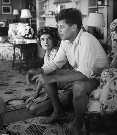 John F. Kennedy and Jackie Kennedy at Hyannis Port, Massachusetts in the 1960s