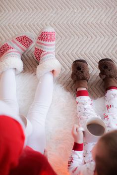Jammies + Hot Cocoa on Christmas Morning!