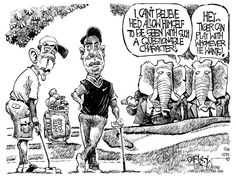 obama cartoon pictures | Tiger Obama Golf by Political Cartoonist John Darkow