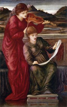 Music Edward Burne-Jones (English, Oil on canvas. Burne-Jones' drawings of a bell-cittern, a crwth and a viola d'amore are all closely related to examples in the Special Exhibition of Ancient Musical Instruments,. Dante Gabriel Rossetti, William Morris, Pre Raphaelite Paintings, John Everett Millais, Edward Burne Jones, Pre Raphaelite Brotherhood, Renaissance Artists, Renaissance Music, William Waterhouse