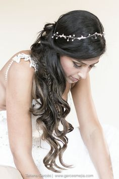 Peinado de novia Hairstyle Bridal wedding - Boda