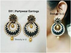 DIY   Designer Silk Thread Necklace using pearls   Tutorial - YouTube Silk Thread Earrings Designs, Silk Thread Bangles Design, Silk Thread Necklace, Silk Bangles, Beaded Necklace Patterns, Thread Jewellery, Jewelry Patterns, Tatting Jewelry, Wire Jewelry