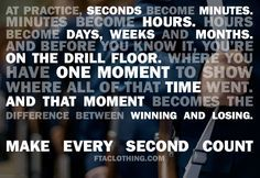 Make every second count. #JROTC #Drill #Black Sabers