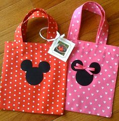 Adorable Mickey & Minnie tote bags. Only $2/ea!