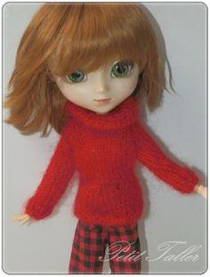 Jersey Rojo para Pullip / Blythe por PetitTaller en Etsy, €15.00