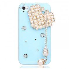 DIY heart-shaped tassel case for iPhone 4 / 4S-sky blue | hallomall - Accessories on ArtFire