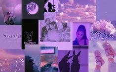 Purple Collage Wallpaper-Ariana Grande themed