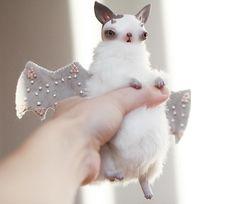 fluffy cloud in a hand ❤️ #arttoy #handmade #handmadedoll #polymerclay #mixedmediadoll #toyart #doll #artdoll #whimsical #mixedmedia #bat #manticore #cat #catlove #giftidea #pastel