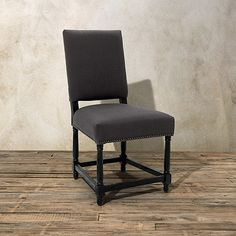 Vail Upholstered Dining Side Chair In Stow Graphite