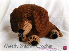 Dash the Dachshund Pup CROCHET PATTERN PDF by MostlyStitchin