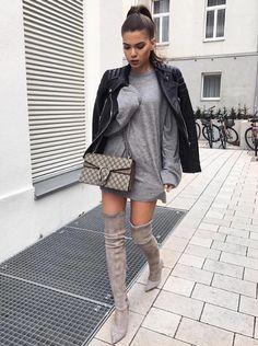 "fabulous-looks: ""Jacket» Dress» Boots» """