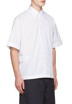 Marni White Velcro Shirt from SSENSE (men, style, fashion, clothing, shopping, recommendations, stylish, menswear, male, streetstyle, inspo, outfit, fall, winter, spring, summer, personal)