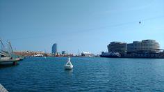 Hafen Port Vell in Barcelon und Hotel W