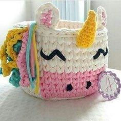 15 Ideas crochet bag small christmas gifts for 2019 Crochet Bowl, Crochet Basket Pattern, Crochet Yarn, Crochet Patterns, Small Christmas Gifts, Crochet Storage, Crochet Unicorn, Crochet Kitchen, Unicorn Gifts