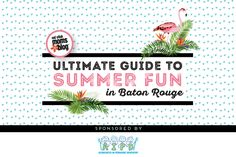Summertime is officially upon us! Check out our 2017 Ultimate Guide to Summer Fun in (and around) Baton Rouge!