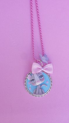 Cat polymer clay necklace fimo by Artmary2 on Etsy, €12.00