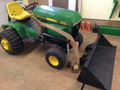 I thought it time to get a thread going on a front end loader build for my You guys do so much nifty work and all along it has inspired me. John Deere Garden Tractors, Yard Tractors, Small Tractors, Sub Compact Tractors, John Deere 400, Garden Tractor Attachments, Tractor Accessories, Atv Trailers, Tractor Loader