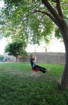 DIY Backyard Tree Swing