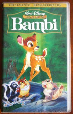 CINTA VHS ORIGINAL BAMBI DE WALT DISNEY PELÍCULA DE ANIMACIÓN (Cine en VHS - Infantil)