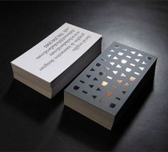 Silk laminate with blind spot gloss and a rainbow foil / #stationary #businesscards / David Trujillo  Very clean design.