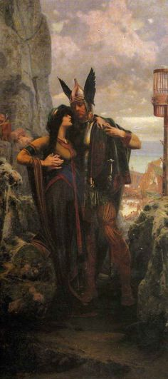 'Viking's Farewell' by Herbert Gandy. (Click for full viewing).