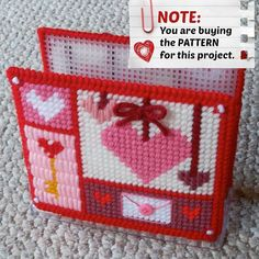 Plastic Canvas PATTERN: Valentine Hearts by ReadySetSewbyEvie, $2.00 -- FINALLY, I have this pattern uploaded for my napkin holder covers! (Note: You can also buy the finished item at my Etsy shop: https://www.etsy.com/shop/ReadySetSewbyEvie