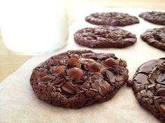 Galletas de chocolate sin gluten, ni mantequilla