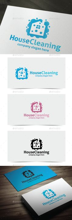 House Cleaning - Logo Design Template Vector #logotype Download it here: http://graphicriver.net/item/house-cleaning/11312907?s_rank=1631?ref=nexion