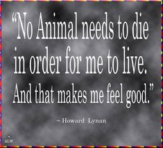 No animal needs to die...