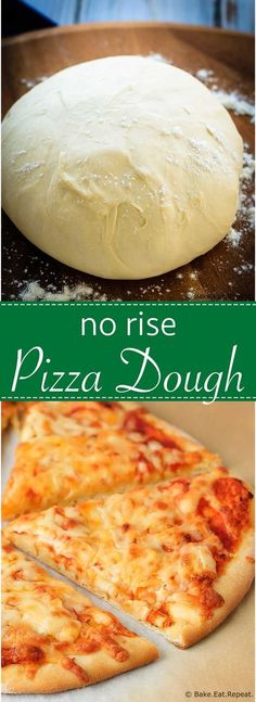 No Rise Pizza Dough - Fast and easy to make no rise pizza dough – scratch, homemade pizza in under an hour!