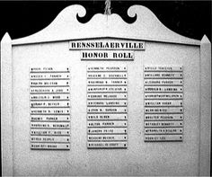 Honor Roll, photo from Rensselaerville Historical Society