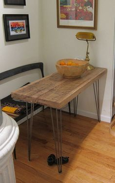 Small Kitchen Table  Salvaged Train Oak by WickedBoxcar on Etsy, £360.00