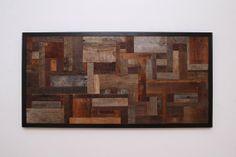 "Custom Made Reclaimed Wood Wall Art 48""X24""X1-1/4"" Made Of Barnwood"