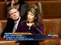 During a U.S. House debate (seen on C-SPAN) on 2011 Federal Spending, Rep. Jackie Speier (D-CA) comments on abortion, in response to comments made by Rep. Christopher Smith (R-NJ).