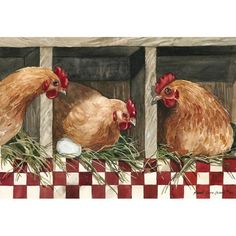 Tips To Stop Chickens From Pecking One Another – Chicken In The Shadows Chicken Signs, Hen Chicken, Chicken Art, Chicken Kitchen, Rooster Painting, Rooster Art, Painting On Wood, Rooster Decor, Evans Art