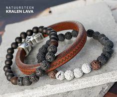 De nieuwe universele lava kralen zijn te verwerken in superveel sieraden. Maak bijvoorbeeld mannensieraden in donkere tinten zoals zwart, grijs en bruin. Ook vrouwensieraden met de nieuwe natuursteenkralen lava mat zijn een aanwinst in je collectie.