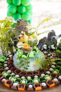 mesa festa dinossauro