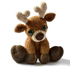 Marley the Reindeer amigurumi pattern by Patchwork Moose (Kate E Hancock)