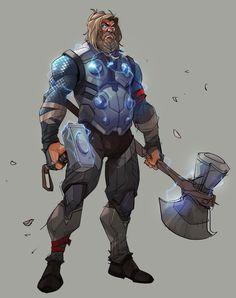 Endgame Thor or Infinity War Thor? by > Endgame Thor! Marvel Comics, Marvel Heroes, Marvel Drawings, Marvel Fan Art, Mundo Comic, Marvel Wallpaper, Marvel Characters, Gi Joe, Marvel Cinematic Universe