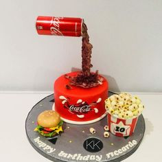 Gravity cake by Donatella Bussacchetti Coke Cake, Coca Cola Cake, Anti Gravity Cake, Gravity Defying Cake, Birhday Cake, Cake Shapes, Adult Birthday Cakes, Crazy Cakes, Specialty Cakes