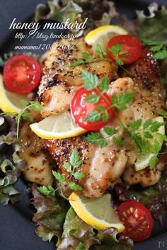 Honey Mustard, Japanese Food, Food And Drink, Chicken, Meat, Cooking, Recipes, Yum Yum, Foods