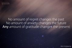 gratitude changes the present