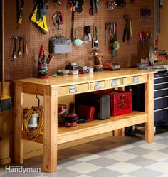http://www.familyhandyman.com/workshop/workbench/simple-workbench-plans/step-by-step